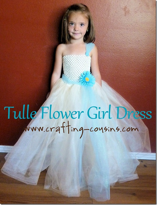 Tulle flower girl dress tutorial from the Crafty Cousins