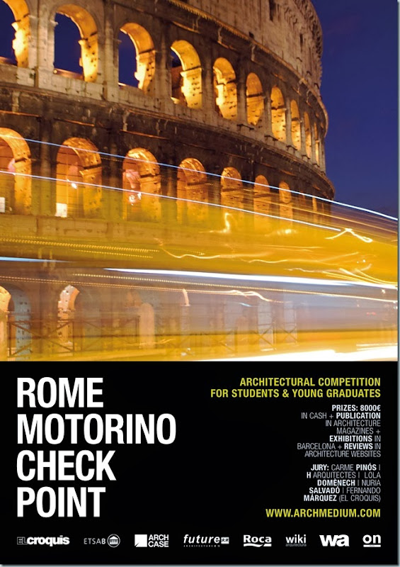 Concurso Arquitectos Rome Motorinio Check Point organizado por Archimedium