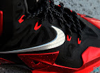 nike lebron 11 gr black red 8 15 New Photos // Nike LeBron XI Miami Heat (616175 001)