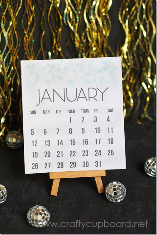 Printable 2014 Calendar by the Crafty Cupboard
