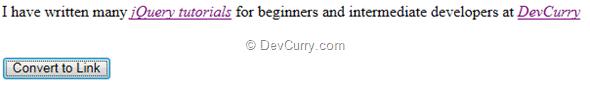 jQuery Convert Link