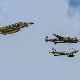 Heritage Flight by Ron Meyers - Transportation Airplanes