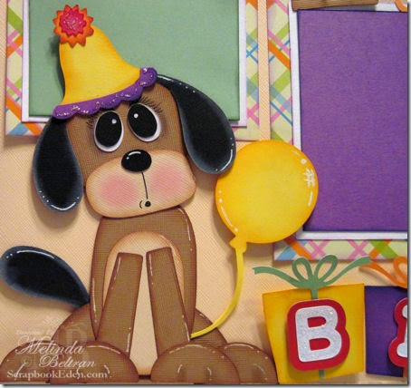 BIRTHDAY DOG PAPER PIECING-SYI-450