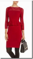 Karen Millen Peplum Mesh Knit Dress