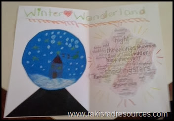 Winter Wonderland Cards with paper Snow Globes - a great Christmas craft for kids - featured on Raki's Rad Resources.
