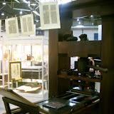 На старинном печатном станке можно было сделать закладку на память.