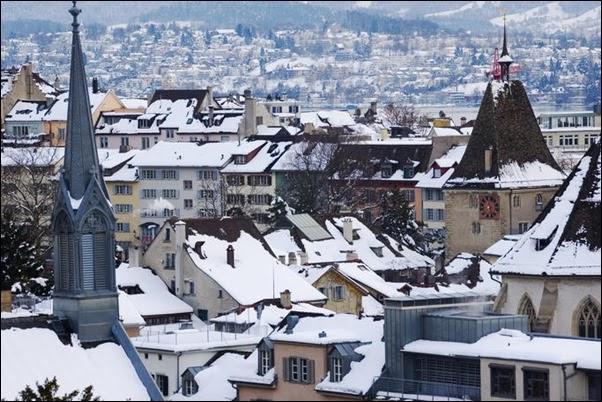 ثلوج سويسرا
