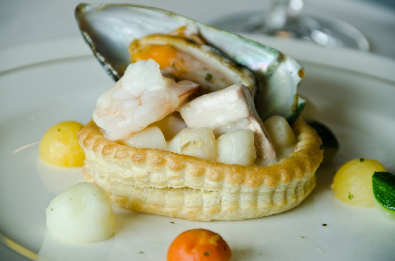 Seafood tart