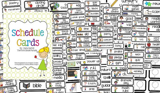 image regarding Free Printable Visual Schedule for Classroom known as Timetable Playing cards are Below!!! - The Initial Quality Parade