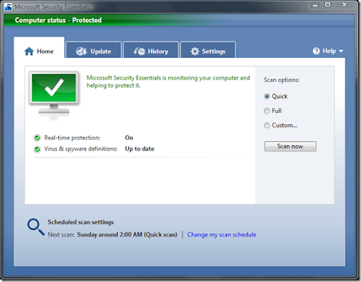 Descargar Microsoft Security Essentials gratis