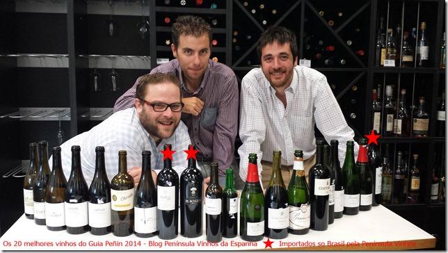 20 vinhos mais pontuados guia peñin2014