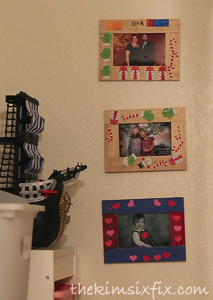 DIY frames by kids