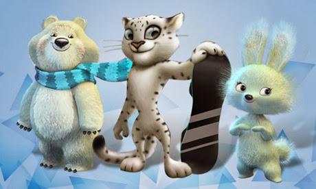 mascotele Jocurilor Olimpice de iarna-Soci 2014