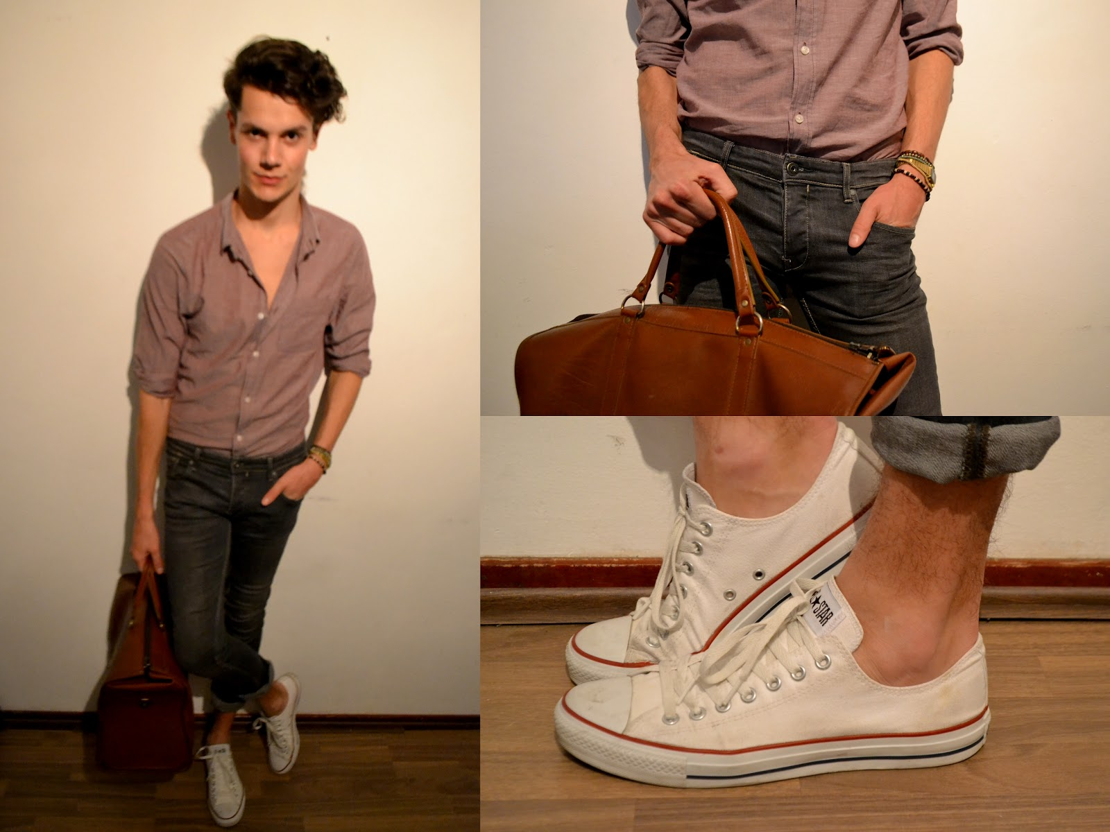 how to wear white converse guys