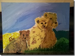 Misha's Cheetah Painting