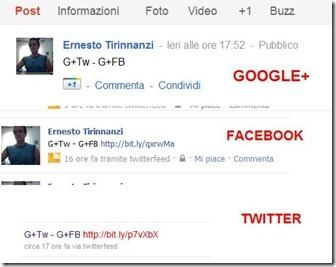 google plus twitter facebook