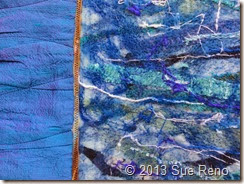 Sue Reno, In Dreams I Saw the Colors Change, Art Quilt, Work in Progress, Detail 3