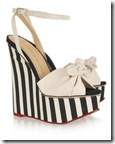 Charlotte Olympia Striped Wedge