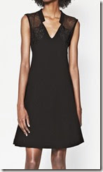 Black dot shoulder dress