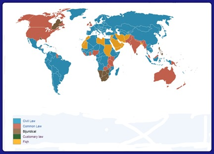 Weltkarte Internationales Recht bis 25.12.2012