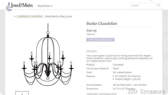burke chandelier