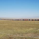 Tianshan - Caravane de camion dans la prairie