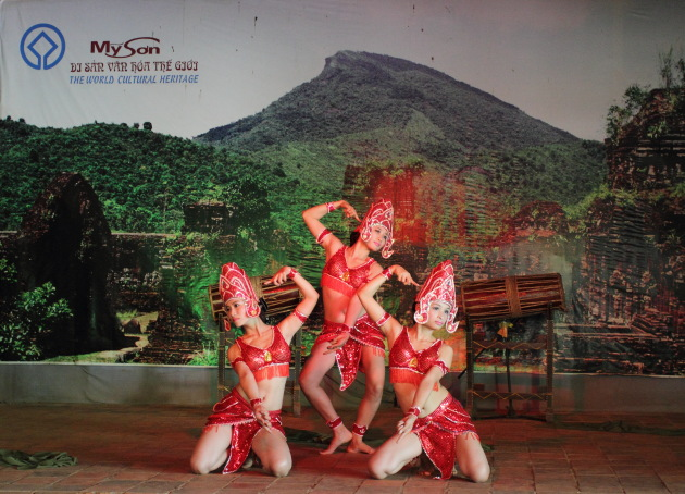 Beautiful Apsaras dancing at My Son, Vietnam