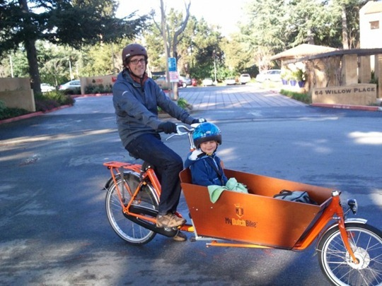 Bakfiets cargo bike in California
