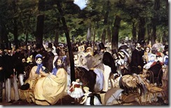 Manet - Music in the tuileries
