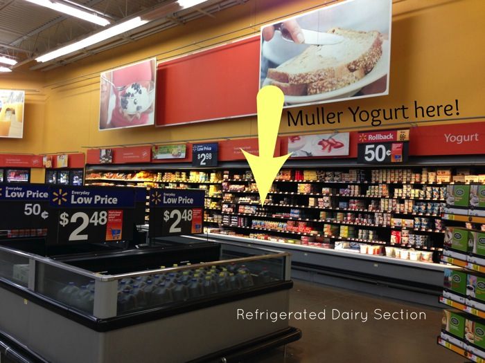 Where to find Muller Yogurt in Walmart s Dairy section