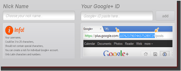 Set Username in Google Plus