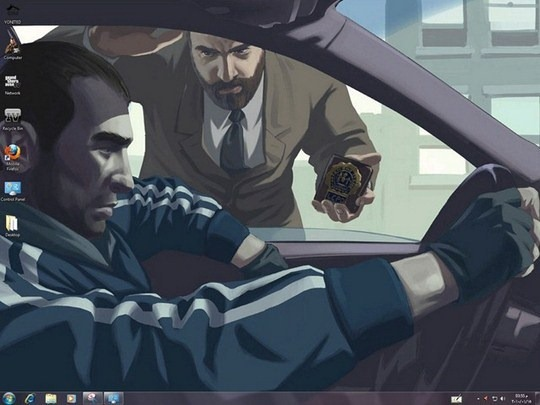 Download Free GTA IV 2 Windows 7 Theme Sounds Screen Saver Icons Cursors
