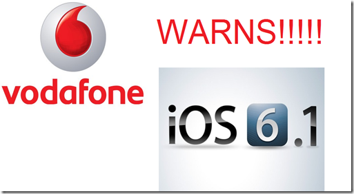 Vodafone iOS 6.1 iphone