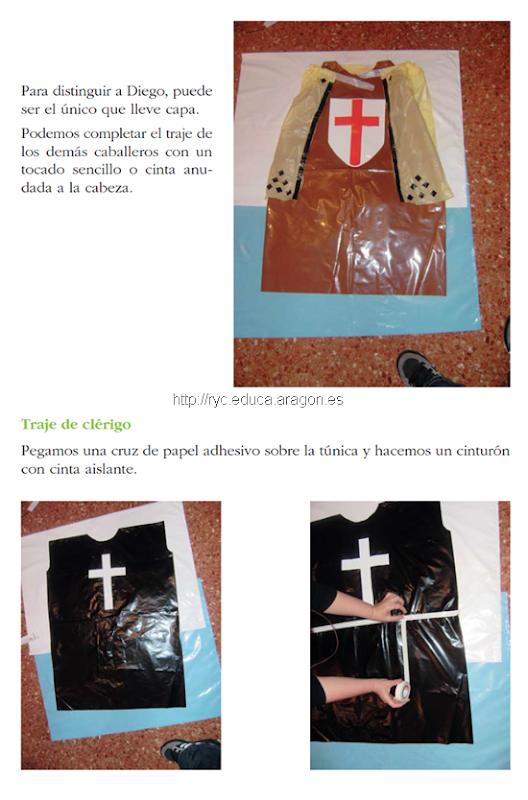 disfraz de clerigo medieval