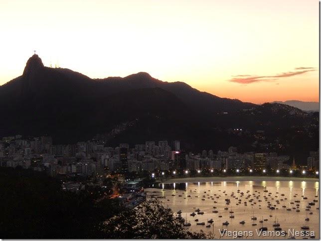 Entardecer no Morro da Urca, vista da Enseada de Botafogo e Corcovado