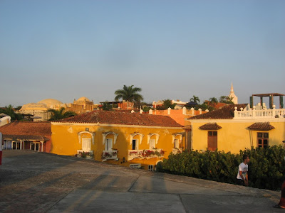 view over the old town of Cartagena from the city wall