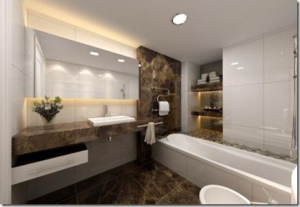 Baños Modernos con Tina9