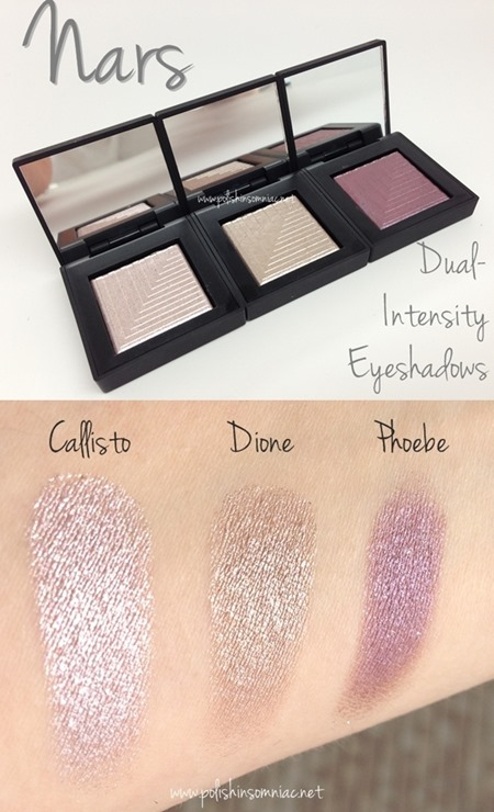Nars Dual Intensity Eyeshadows - Callisto, Dione and Phoebe