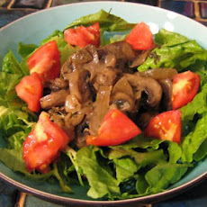 Shiitake Mushrooms With Garlic and Shallots on Greens