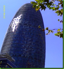 Torre AGBAR  -Barcelona's version of the Gherkin