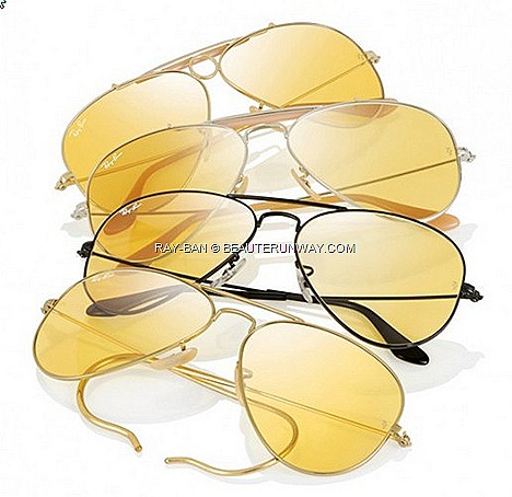 Ray-Ban Ambermatic 2012 Limited Edition four iconic shapes Ray-Ban Classic Aviator with curved temple tips, Ray-Ban Shooter Outdoorsman Laramie, Meteor, Wayfarers at  75th Anniversary Never Hide Ray-Ban Legends Singapore store ION