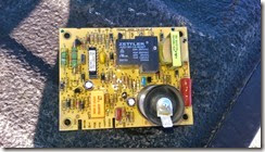Front of the control board...