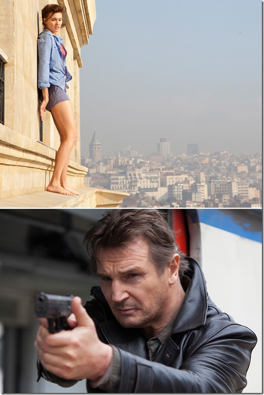maggie grace and liam neeson TAKEN2