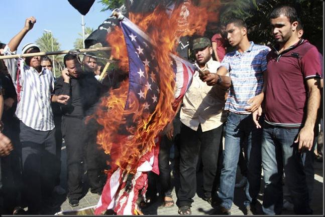 Burning the US Flag