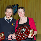 at the Mulroy College prize giving on Thursday night last. Photo Clive Wasson.