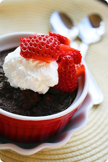 Easy Chocolate Bread Pudding with Vanilla Whipped Cream