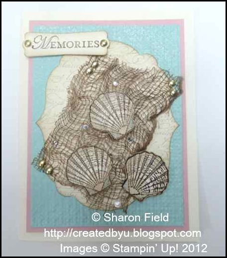 Faux  Fish Net Technique Using Stampin Up Materials