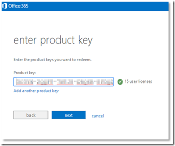 office 365 license key