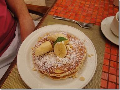 22.  Banana macadamian nut pancakes