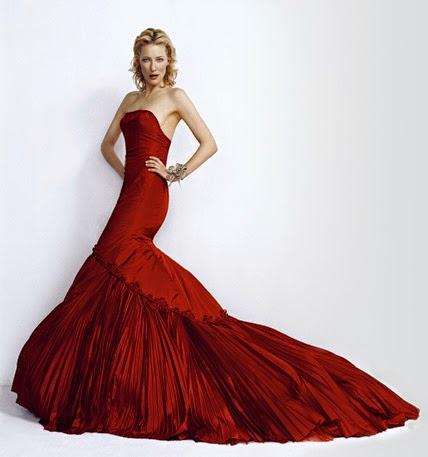 chica de vestido rojo y largo-480563